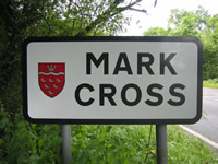 Mark Cross Roadside Sign
